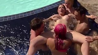 Birthday hottie enjoyment sneaky hands scene
